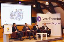 De gauche à droite: Lionel Gendarme, Shariq Arif, Christophe Buschmann et Gérard Flamion.
