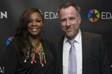 Éveline Diatta-Accrombessi, la CEO de Edan et Daniel Eischen, CEO de Interact et président de Tribe Global.
