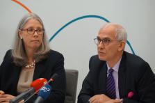 Denise Voss, présidente de l'Alfi et Marc-André Bechet, directeur tax & legal