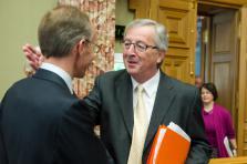 Jean-Claude Juncker, alors Premier ministre du Luxembourg.