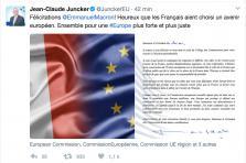 Félicitations de Jean-Claude Juncker à Emmanuel Macron.