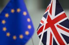 Drapeau du Royaume-Uni et de l'Union Européenne