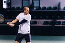Gilles Müller entrainement