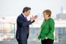 Xavier Bettel et Angela Merkel