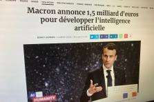 La France souhaite devenir une référence mondiale dans le domaine de l'intelligence artificielle.