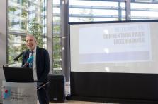Patrick Hoffnung, directeur de l'ECCL et président du Cluster Mice, a présenté mercredi le nouveau concept du Convention park Luxembourg.