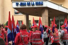 Les grévistes ont entamé jeudi leur grève sur les sites de Luxembourg et Pétange.