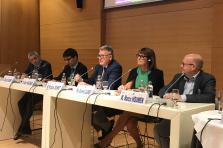 Christian Scharff, Marc Wagener, Nicolas Schmit, Rosemarie Clarner et Marco Houwen sont intervenus lors de la table ronde sur le thème «Travailler 4.0»