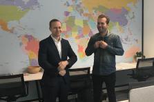 Atte Suominen (à gauche), le CEO de C-Finance, et Jarno Partanen, le fondateur, dans leur bureau de la Lhoft.