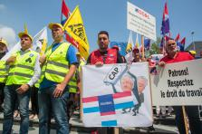 Piquet de protestation devant Nordea Bank