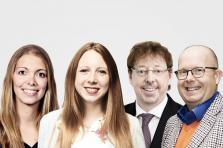 Claire Delcourt (Candidate LSAP), Tanja Duprez (Candidate Déi Gréng), Claude Steinmetz (Candidat CSV) et Marco Houwen (Candidat DP).