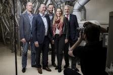 Famille Muller (de gauche à droite: Manou Emringer, Patrick, Jean, Carole et Edmond Muller): des moulins d'antan à l'industrie de pointe.