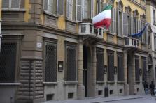 Le siège historique de la Credem, dans la ville de Reggio d'Émilie, en Italie.