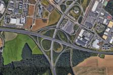 L'Administration des ponts et chaussées continue ses interventions à hauteur de la croix de Gasperich.