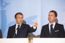 Emmanuel Macron et Xavier Bettel