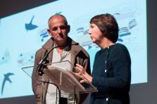 Jean Bechameil et Martine Feipel lors de la cérémonie de remise du Prix COAL2018.