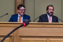 Sven Clement, président des Piraten, et Gast Gibéryen, membre fondateur de l'ADR, bénéficient d'une plate-forme commune pour peser plus lors de cette législature.