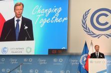 «Ne nous voilons pas la face. Trois ans après l'adoption de l'accord de Paris, nous abordons ce défi central pour l'humanité qu'est la lutte contre le changement climatique dans une posture qui se fragilise de mois en mois», a ainsi expliqué le Grand-Duc.