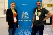 Elodie Trojanowski, CEO et co-founder de Luxfactory et Jérôme Grandidier, président et fondateur de Luxfactory