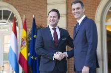 Xavier Bettel a rencontré le Premier ministre espagnol Pedro Sanchez à l'issue de son entrevue Luis Sahún.
