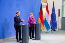 Xavier Bettel et Angela Merkel.