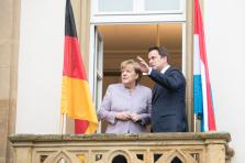 Angela Merkel et Xavier Bettel