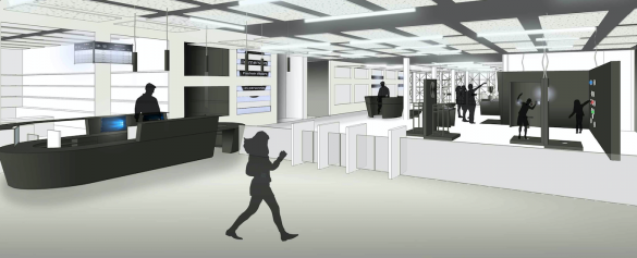 Le hall d'entrée de l'Euro Space Center fera peau neuve elle aussi.  Photo: Atelier Sompairac Architectes