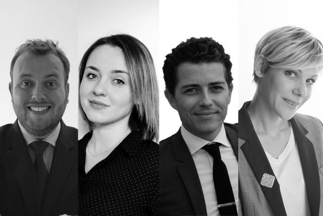 Romain Tisné, Dominique Carbon, Nicolas Perrichot et Emeline Baud