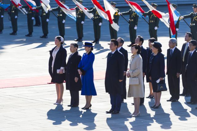 S.A.R. la princesse Alexandra; S.A.I. le prince héritier du Japon; S.A.I. la princesse héritière du Japon; Shinzo Abe, Premier ministre du Japon; Akie Abe, épouse du Premier ministre japonais Shinzo Abe