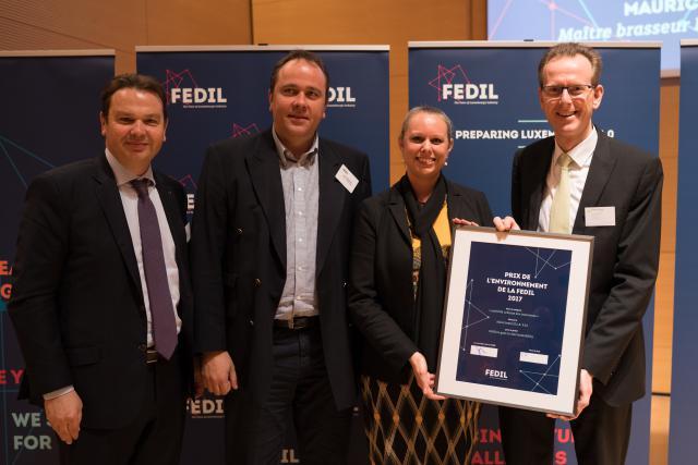 Georges Hilbert et Paul Trierweiler, Sales-Lentz, prix de l'environnement 2017
