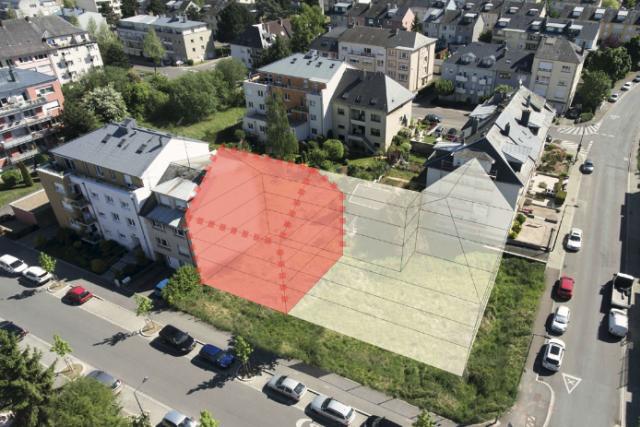 Le terrain situé à Bonnevoie pourra accueillir 5 à 6 unités de logement.