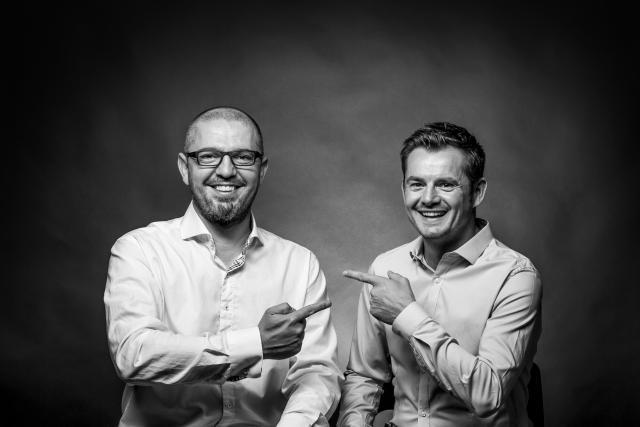 Fabian Collot et David Gavroy, fondateur de Z6 Création et de Noosphere