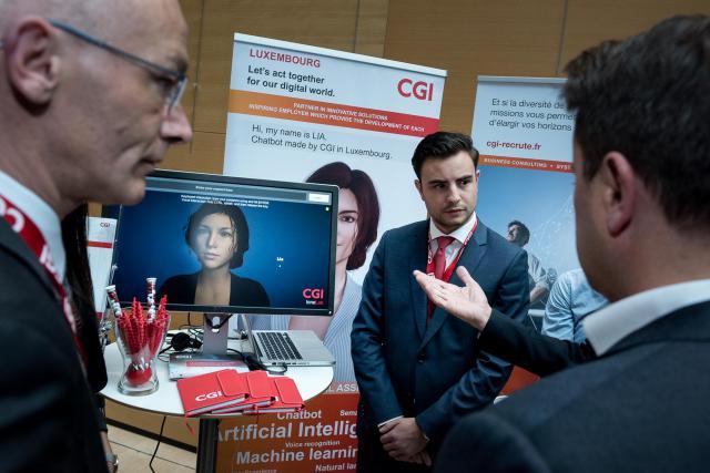 L'avatar Lia, développé au Luxembourg et ici présenté lors des Internet Days 2017