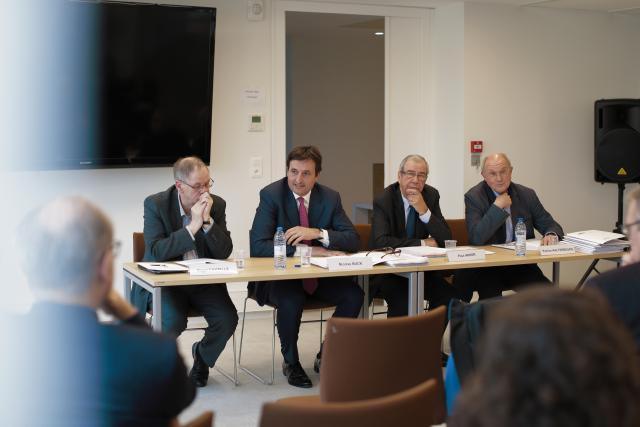 Roger Cayzelle, Nicolas Buck, Paul Arker et Patrice Haltebourg.