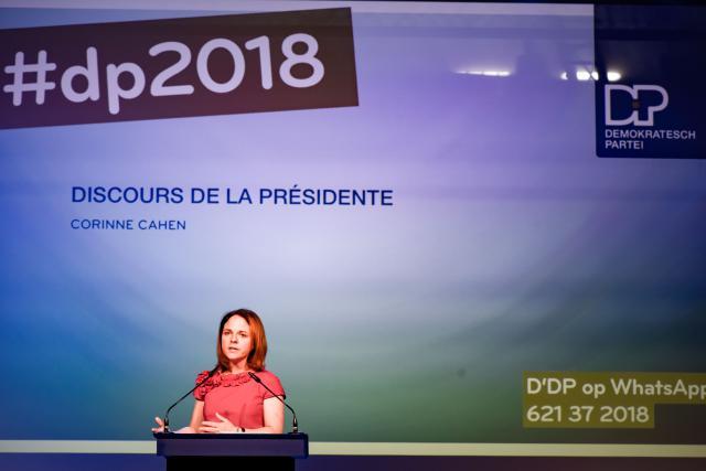 Corinne Cahen, présidente du DP, sera tête de liste au Centre pour les élections législatives d'octobre.