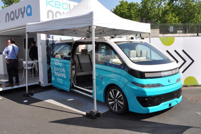 Le taxi autonome développé par la start-up française Navya est actuellement en phase de test et pourrait rouler en conditions réelles à partir de 2019.
