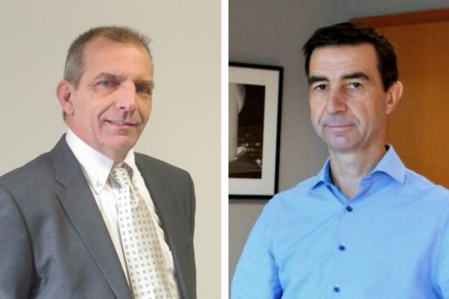 Roland Streber, CEO de ProNewTech et Pascal Robert, CEO de Microtis