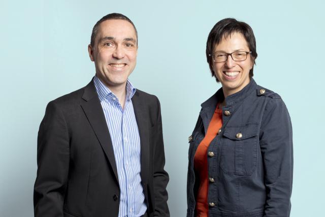 Yves Baden, directeur des ressources humaines du groupe CFL et Sandrine Boucquey, head of HR and legal au sein d'EBRC