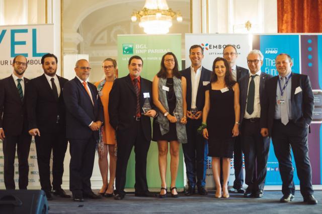 Mathilde Argaud, fondatrice de Largowind (au centre), a remporté la dernière édition du concours Creative Young Entrepreneur Luxembourg.