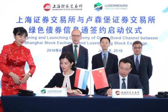 Bourse de Luxembourg et de Shanghai
