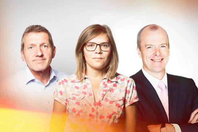 Lucien Bechtold (Mutualité de cautionnement), Cécile Sevrain (Luxembourg business angel network) et Frédéric Stiernon (CarPay-Diem)