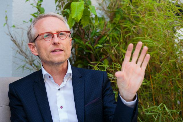 Thierry Geerts, CEO de Google Belux, laisse encore planer le suspens quant au terrain acheté à Bissen.