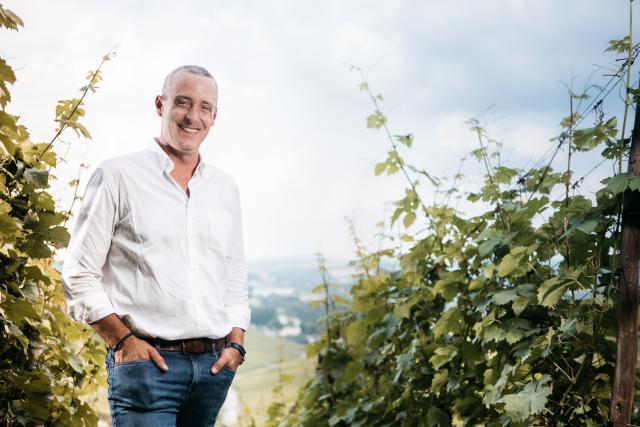 Josy Gloden au cœur de son vignoble de Bech-Kleinmacher.