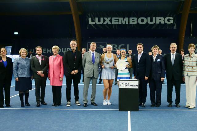 Le Luxembourg Open lors de la remise de prix pour l'édition2017 remportée par Carina Witthoeft.