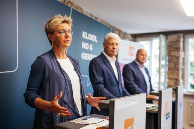 L'ancienne ministre de l'Enseignement supérieur, Martine Hansen, a déployé le volet éducation du programme du CSV.