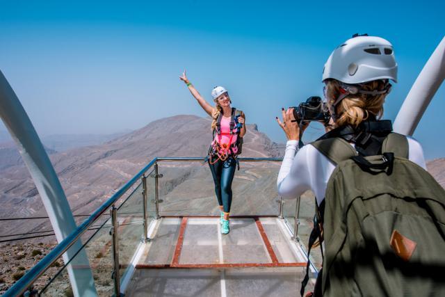 Ras Al Khaimah a l'ambition de devenir une destination incontournable au niveau mondial pour les voyages de tourisme et d'affaires. Sa tyrolienne est l'une des ses attractions phares.