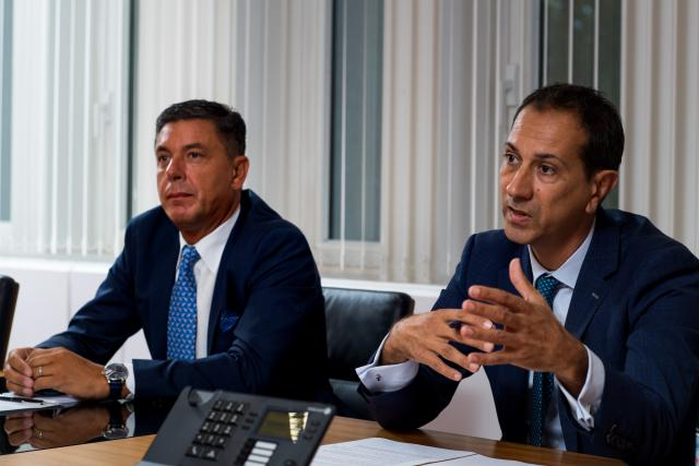 Jean-Pierre Murgia (head of real estate & facility services) et Christophe Velle (CEO), Intesa Sanpaolo Holding International.