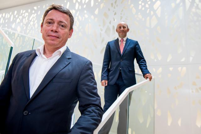 Olivier Renault et Laurent Marochini ont mis au point le projet #LePlateau Lux pour intégrer des start-up dans les locaux de SGBT.