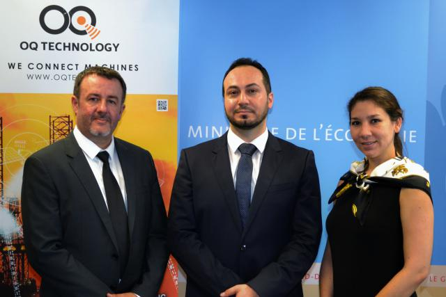 Omar Qaise (centre), CEO de OQ Technology