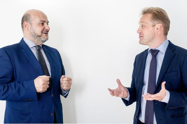 Antonio Corpas, CEO de OneLife et Frédéric Sauvage, directeur commercial au sein de Bâloise Vie.